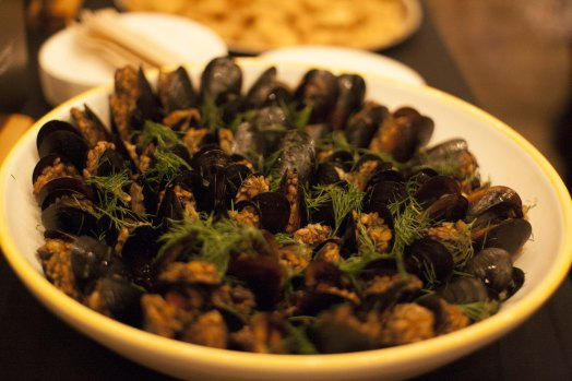 Stuffed Mussels with Armenian Inspired Spiced Rice, Blackcurrants, Pin Nuts. ( org. Midye Dolma)