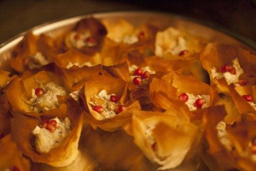 Smoked Aurbergine and Feta Bites in Filo / photo by Sebnem Ugural