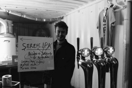 Sucuk-ekmek (spiced Turkish sausage) and Serefe IPA pairing event @40ftbrewery in Dalston