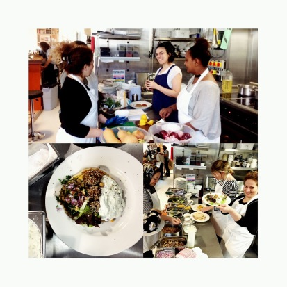 Meze and Flat Bread Making Class at Just Bread Refugee Council&e5Bakehouse joint program