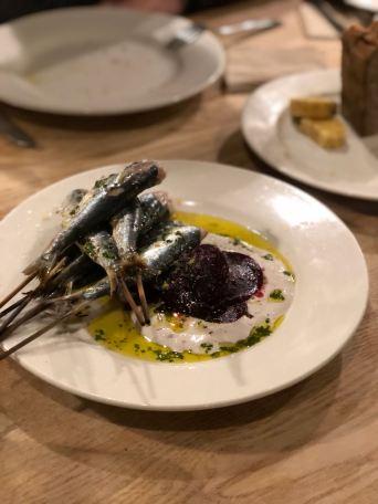Cornish Sardines w/Istanbul Tarator