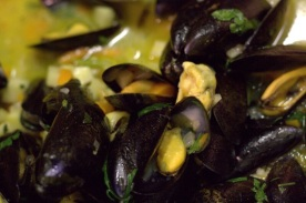 Cornish mussel Pilaki from festive supper club at e5 bakehouse