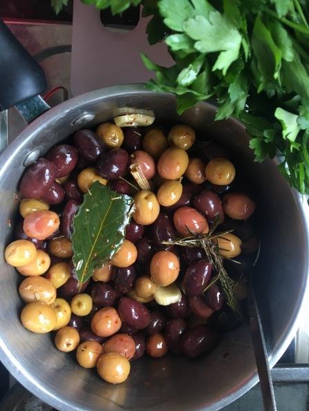 Marinated olives