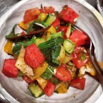 summer watermelon fattoush